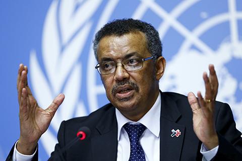 世卫组织选出首位来自非洲的总干事阿达诺姆