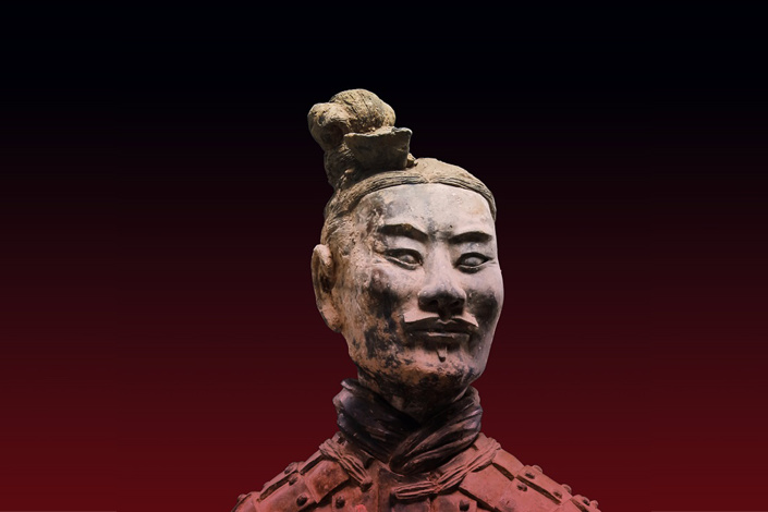 The Terracotta Army is a collection of terracotta sculptures depicting the armies of Qin Shi Huang, the first Emperor of China. It is a form of funerary art buried with the emperor in 210–209 BCE and whose purpose was to protect the emperor in his afterlife. Photo: The Met