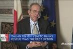 意大利财长:救助濒于破产银行已是当下的最好选择