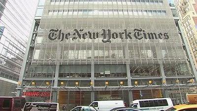 """受""""特朗普效应""""推动 《纽约时报》股价达9年新高"""