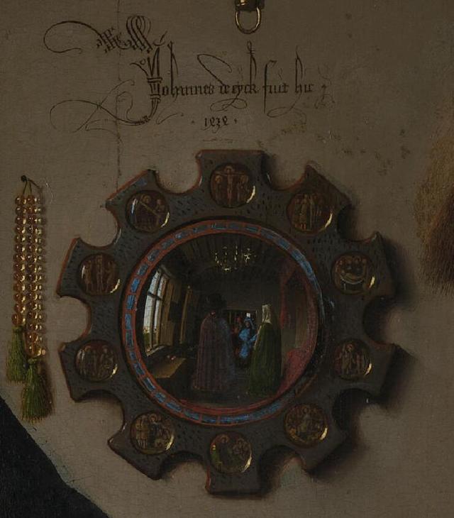 《乔瓦尼•阿尔诺芬尼与他妻子》局部