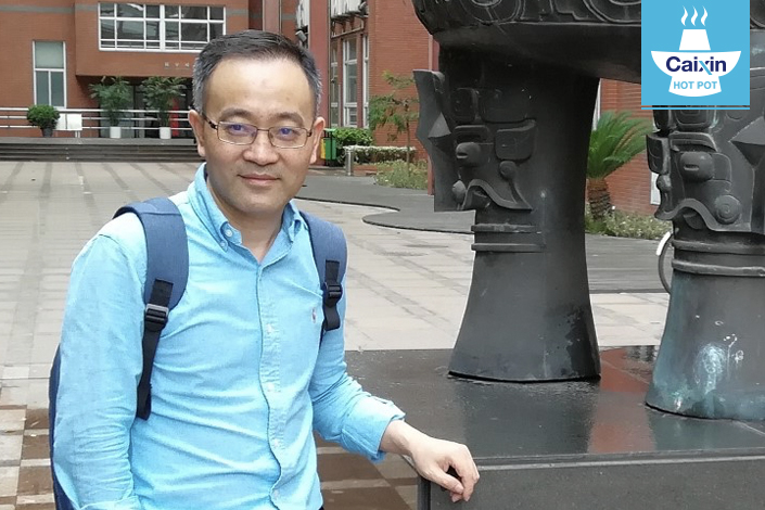Zhang Taofu is deputy dean for graduate and undergraduate affairs at the Fudan University School of Journalism. Photo: Yang Ge/Caixin