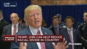 特朗普:工作岗位增加有助于减少美国的种族分裂