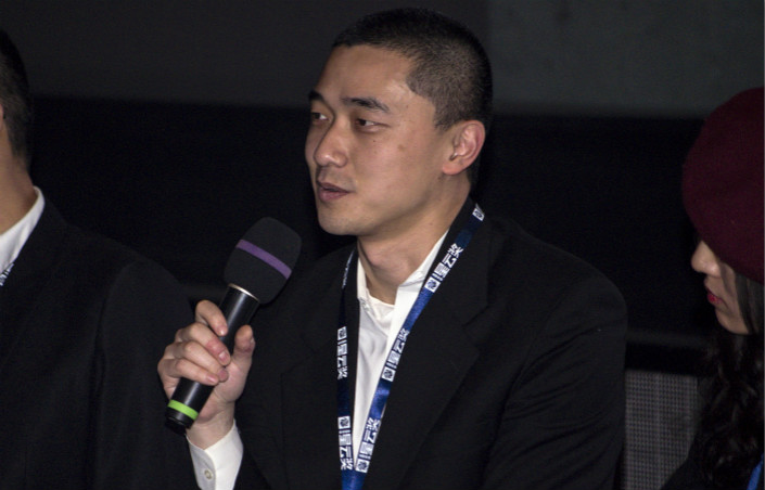 Sci-fi author and translator Ken Liu speaks at a Xingyun (Nebula) Award for Global Chinese Science Fiction forum at the Inside-Out Theatre in Beijing in November 2014. Photo: IC