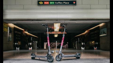 共享电动滑板车走红新加坡