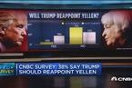 CNBC调查:38%被调查者认为耶伦会连任