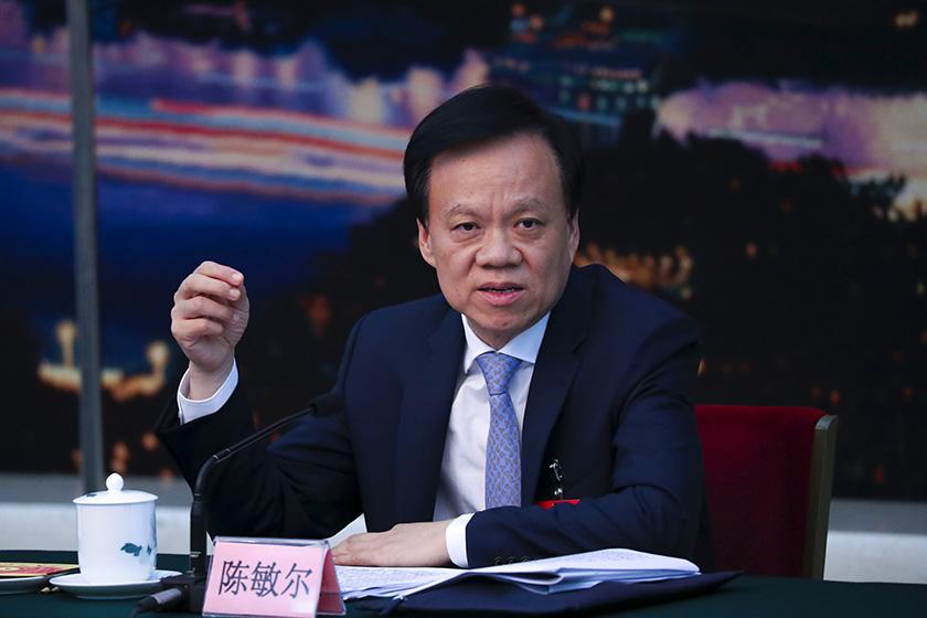 """陈敏尔答记者问:清除孙政才恶劣影响要与肃清""""薄、王""""遗毒相结合"""