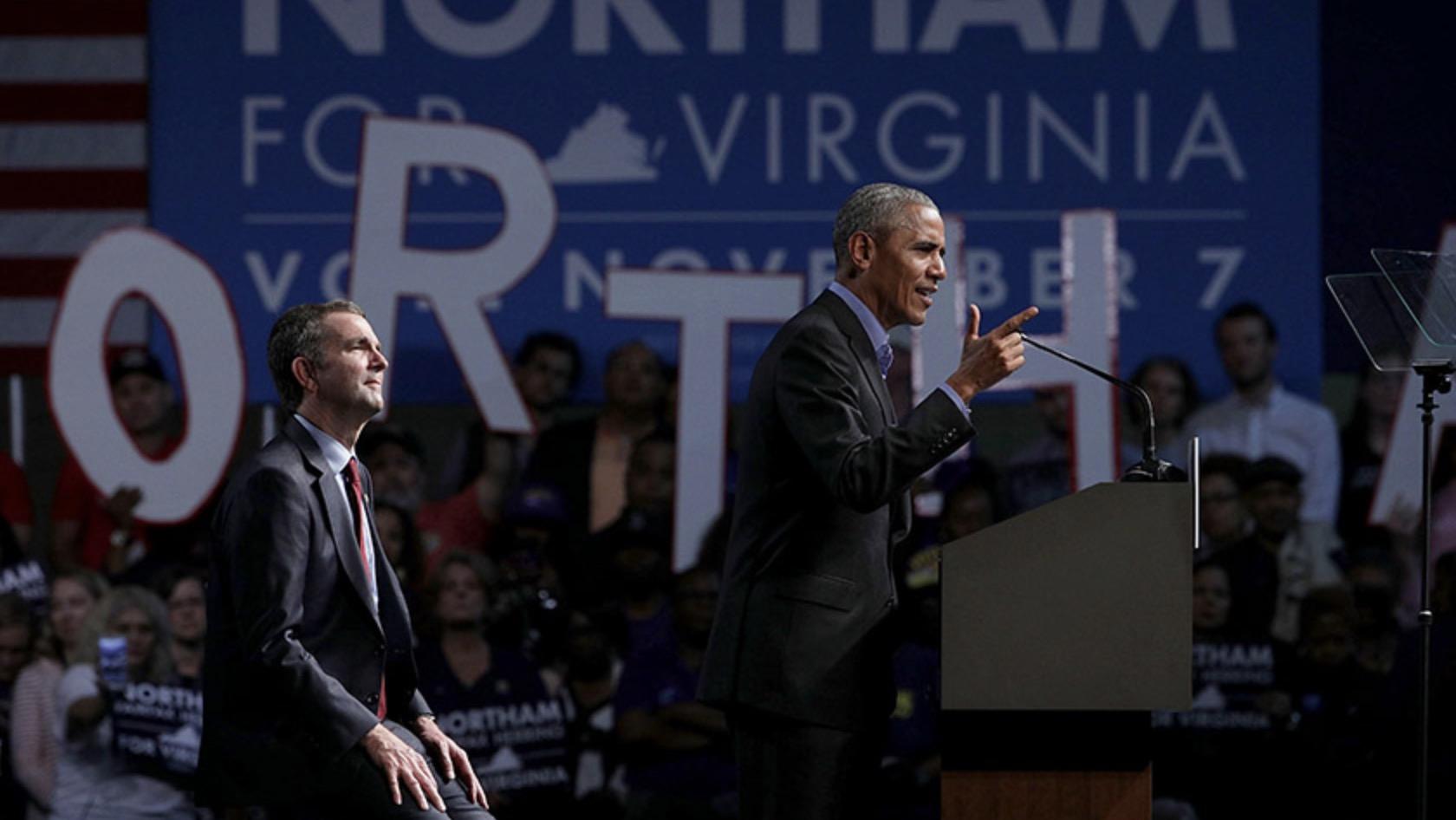 奥巴马再入竞选潮 为州长选举站台