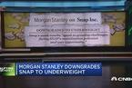 摩根士丹利将Snap评级下调至表现逊于同业