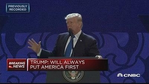 特朗普APEC演讲:不会再容忍美国贸易对手的不公平竞争行为