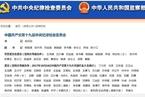 十九届中共中央纪委常委会分工初定