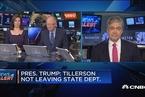 """特朗普:国务卿蒂勒森不会离职 媒体搞""""假新闻"""""""
