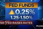 美联储上调联邦基金利率0.25个百分点