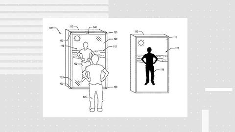亚马逊获智能镜子专利 可切换场景虚拟试衣