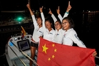 汕头大学女学生组队横渡大西洋破世界纪录 李嘉诚资助参赛