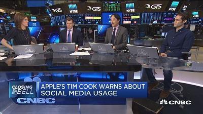 苹果CEO库克:应限制儿童使用社交网络