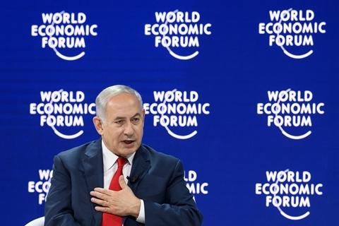 以色列总理舌战达沃斯 面对质疑重申巴以问题立场