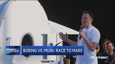 马斯克的SpaceX与波音展开登陆火星赛跑