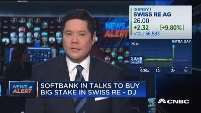 软银欲购瑞士再保险三分之一股份 交易价值或超百亿美元