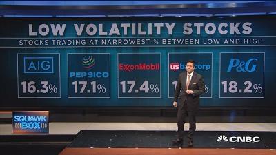 过去一年波动性最小的美股有哪些?