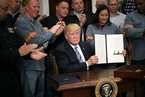 特朗普签署进口钢铝重税 加拿大和墨西哥豁免