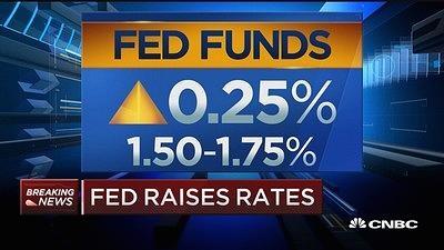 美联储今年首次加息 上调明后年加息预期