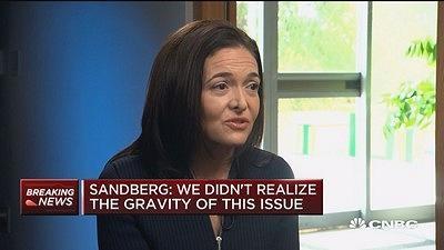 桑德伯格回应Facebook数据丑闻:当时没意识到问题的严重