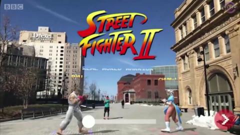 《街头霸王》AR版有望让你在真实街道上搏击