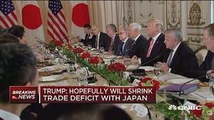 特朗普:望缩小美日贸易逆差
