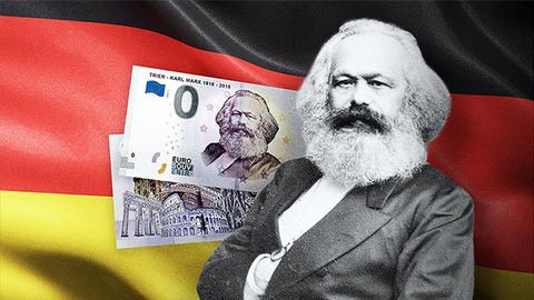"""德国特里尔市出售""""0欧元""""钞票 纪念马克思诞辰200周年"""
