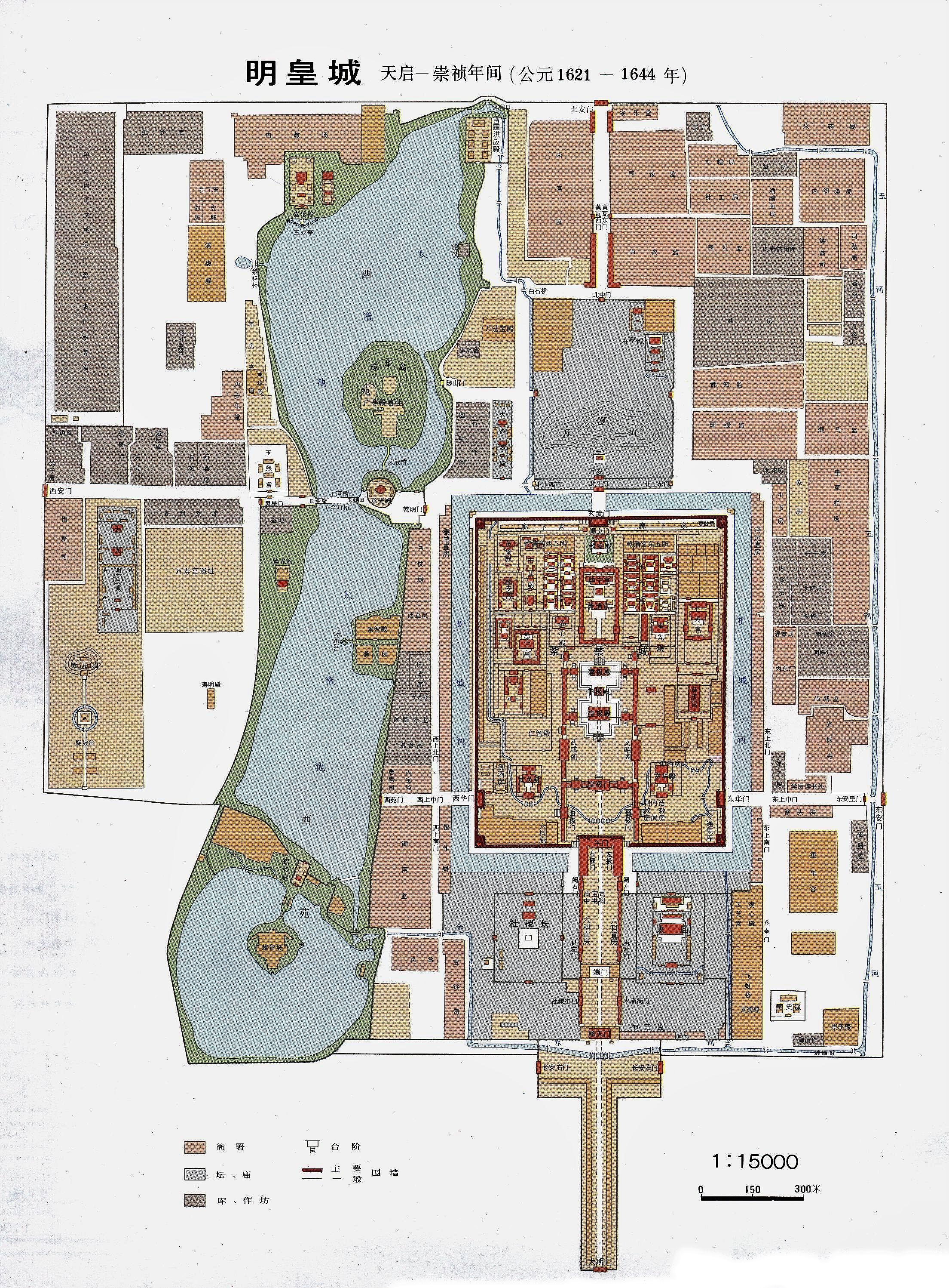 紫禁城平面图高清大图