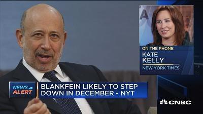 媒体:贝兰克梵或于12月卸任高盛CEO