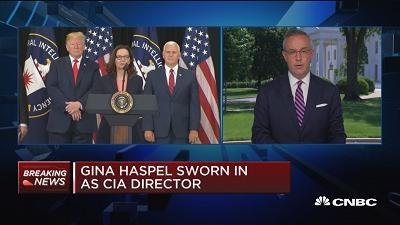 首位CIA女局长哈斯佩尔宣誓就职