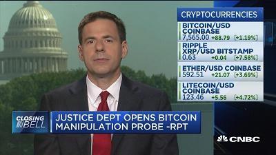 美司法部调查比特币价格操纵 监管再升级