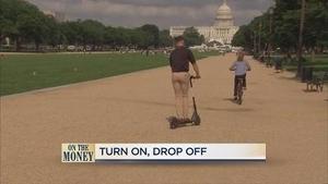 美国城市街头兴起共享电动滑板车