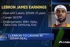 分析人士:商业因素促使詹姆斯加盟湖人