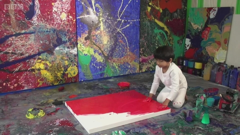 4岁的小神童画家