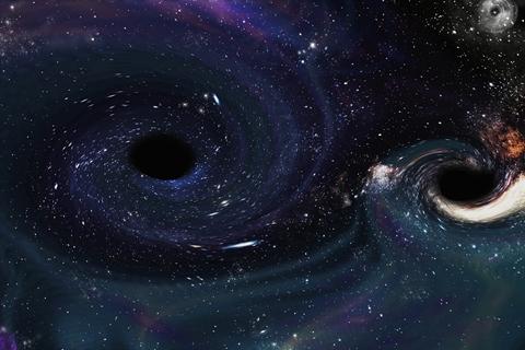 中国团队首次算出暗物质晕下的黑洞光影
