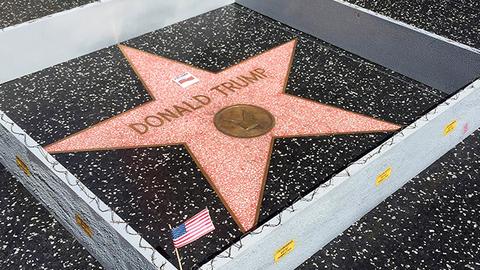 美国西好莱坞市市议会提议:移除特朗普星星