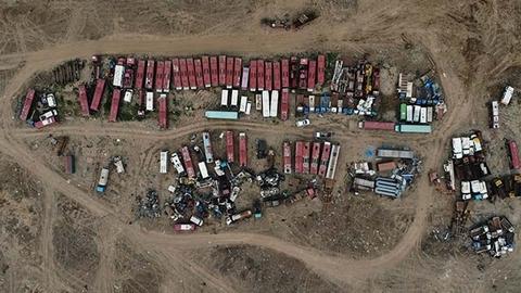 河北徐水私拆废车泛滥 一户单月拆铁达300多吨