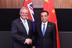 李克强语澳总理 望澳方为中企提供非歧视的公平环境