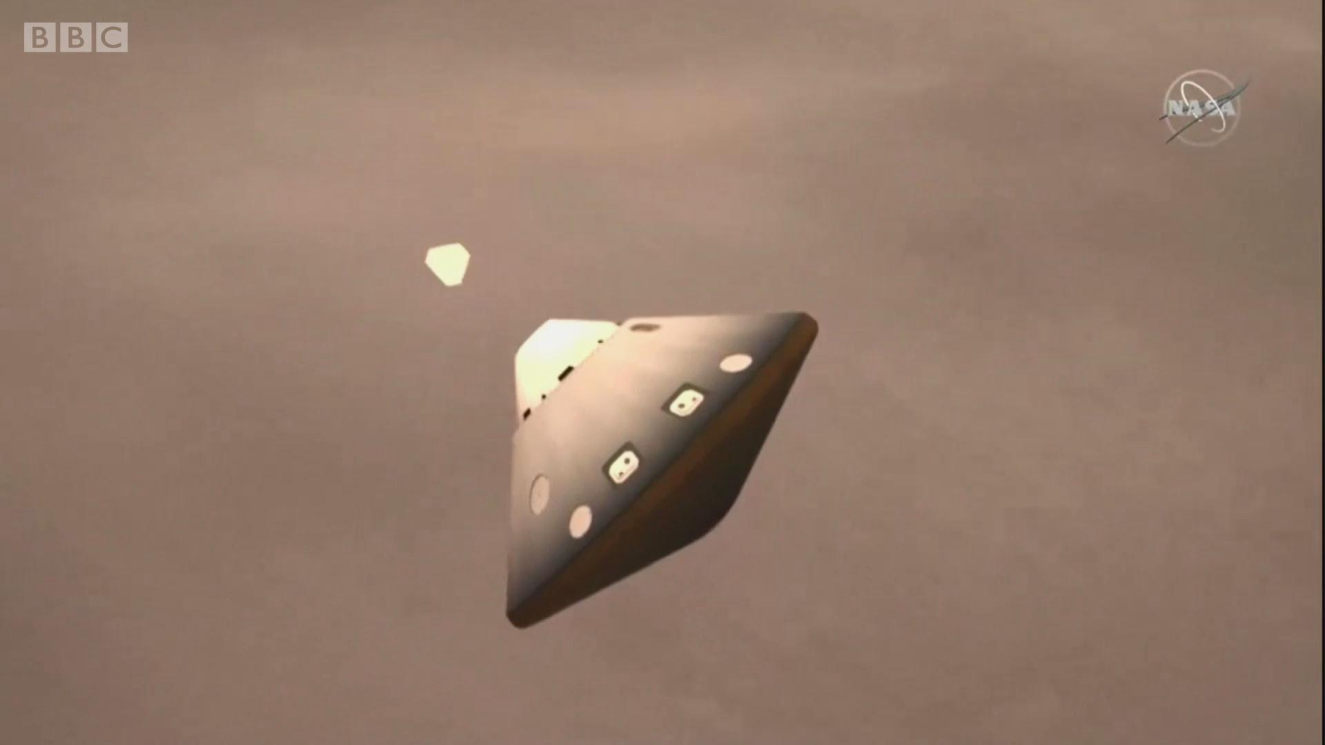 NASA探测器成功抵达火星的一刻