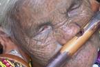 緬甸女性面部的刺青
