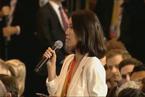财新特派记者张琪在大阪G20峰会现场提问特朗普