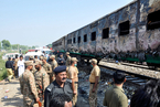巴基斯坦火车爆炸致65死 乘客私带炉灶做饭失火酿灾