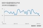 10月财新中国服务业PMI降至51.1 为一年来最低
