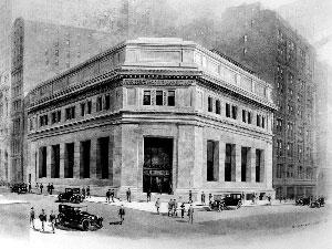 1913年位于纽约华尔街23号的摩根大通公司