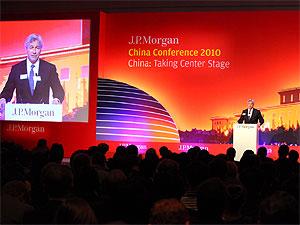 摩根大通集团董事长兼首席执行官杰米?戴蒙先生在2010中国投资者大会上做主题演讲