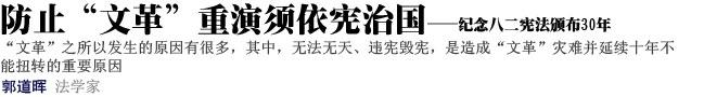 """防止""""文革""""重演须依宪治国"""