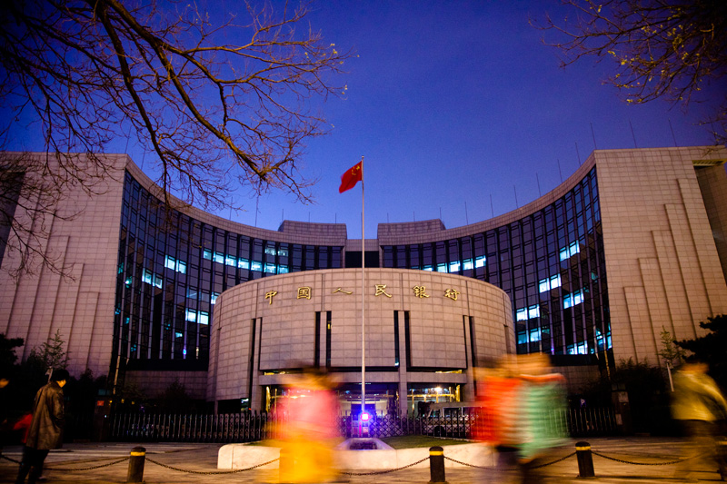 The People's Bank of China (above) said financial institutions should use the cash freed up from the lower reserve requirement ratio to support small and micro companies. Photo: VCG